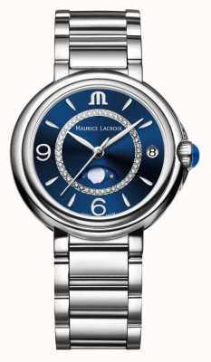 Maurice Lacroix Fiaba moonphase dames quartz diamant roestvrij staal FA1084-SS002-420-1