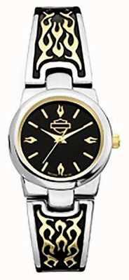 Harley Davidson Armband voor dames | zwarte wijzerplaat 78L108