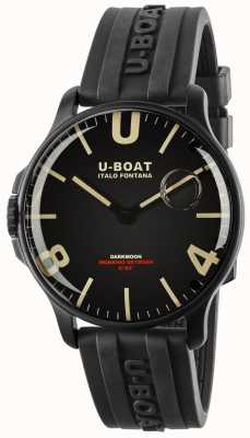 U-Boat Darkmoon 44mm zwart ipb   rubberen band 8464-BLACK