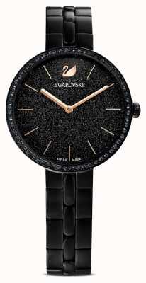 Swarovski Kosmopolitisch | zwarte pvd vergulde armband | zwarte glitter wijzerplaat 5547646