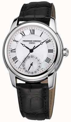 Frederique Constant Klassiek automatisch heren | zwarte leren band | zilveren wijzerplaat FC-710MC4H6