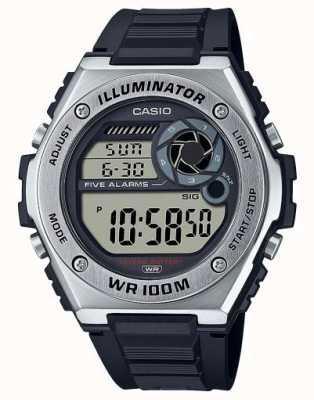 Casio Illuminator | zwarte siliconen band MWD-100H-1AVEF