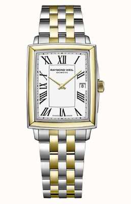 Raymond Weil Toccata voor dames | tweekleurige stalen armband | witte wijzerplaat 5925-STP-00300