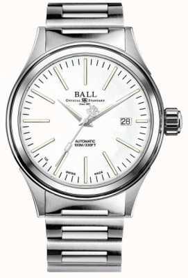 Ball Watch Company Brandweerman onderneming | roestvrijstalen armband | witte wijzerplaat NM2188C-S20J-WH