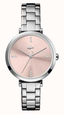 Lacoste | vrouwen | Genève | roestvrijstalen armband | roze wijzerplaat | 2001145