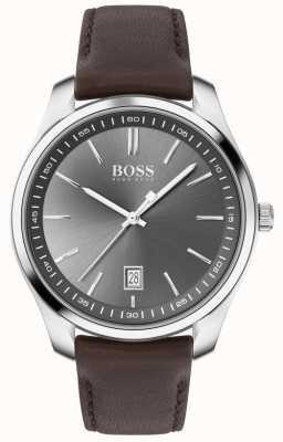 BOSS | heren | cadeauset | circuit | bruine lederen band 1570083