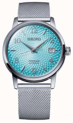 Seiko Voorvertoning in beperkte oplage | stalen mesh armband | blauwe wijzerplaat SRPE49J1