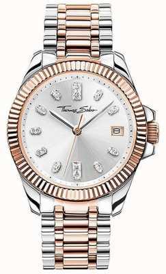 Thomas Sabo | vrouwen | goddelijk | tweekleurige stalen armband | zilveren wijzerplaat | WA0371-277-201-33