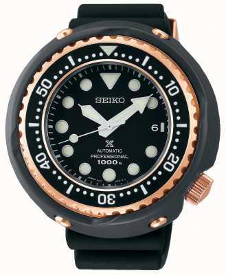 Seiko Prospex voor heren | zwarte siliconen band | zwarte wijzerplaat | SLA042J1