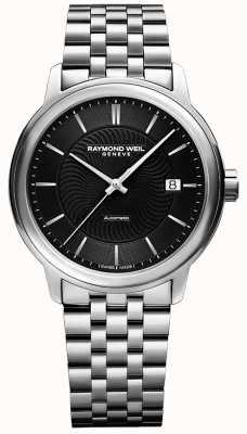 Raymond Weil Maestro automatisch heren   roestvrijstalen armband   2237-ST-20001