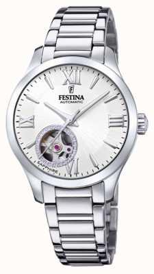 Festina Damesautomaat | roestvrijstalen armband | zilveren wijzerplaat F20488/1