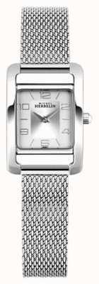 Michel Herbelin Vth Avenue | stalen mesh armband | zilveren rechthoekige wijzerplaat 17437/21B