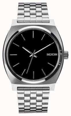 Nixon Tijd teller | zwart | roestvrijstalen armband | zwarte wijzerplaat A045-000-00