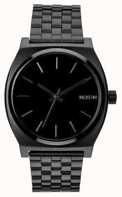 Nixon Tijd teller | helemaal zwart | zwarte ip stalen armband | zwarte wijzerplaat A045-001-00