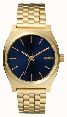 Nixon Tijd teller | geheel licht goud / kobalt | gouden ip-armband | blauwe wijzerplaat A045-1931-00