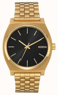 Nixon Tijd teller | alle goud / zwarte zonnestraal | gouden ip-armband | zwarte wijzerplaat A045-2042-00