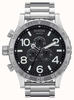 Nixon 51-30 chrono | zwart | roestvrijstalen armband | zwarte wijzerplaat A083-000-00