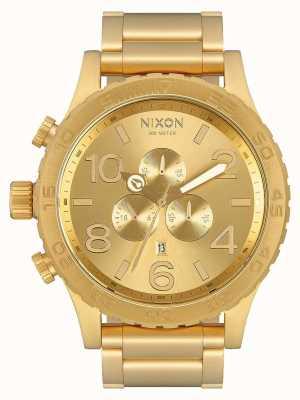 Nixon 51-30 chrono | alle goud | gouden ip-armband | gouden wijzerplaat A083-502-00