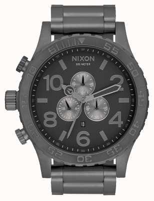 Nixon 51-30 chrono | alle brons | staalgrijze armband | metalen wijzerplaat A083-632-00