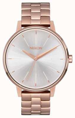 Nixon Kensington | rose goud / wit | ross gouden ip-armband | zilveren wijzerplaat A099-1045-00