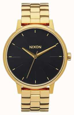 Nixon Kensington | alle goud / zwarte zonnestraal | gouden ip-armband | zwarte wijzerplaat A099-2042-00