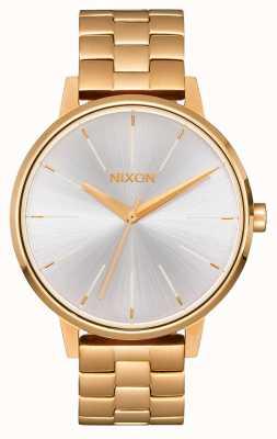 Nixon Kensington | goud / wit | gouden ip-armband | zilveren wijzerplaat A099-508-00