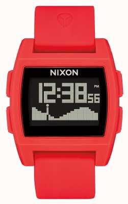Nixon Basistij | rood | digitaal | rode siliconen band A1104-200-00