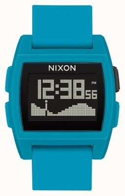 Nixon Basistij | blauwe hars | digitaal | blauwe siliconen band A1104-2556-00
