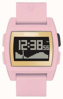 Nixon Basistij | zacht roze / goud / lh | digitaal | roze siliconen band A1104-2773-00