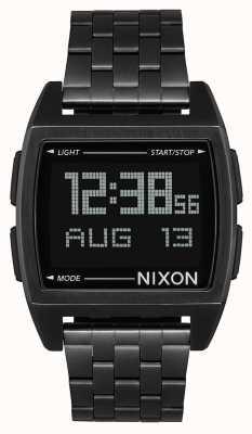 Nixon Basis   helemaal zwart   digitaal   zwarte ip stalen armband   A1107-001-00