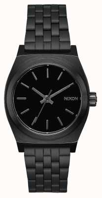 Nixon Middellange tijd teller | helemaal zwart | zwarte ip stalen armband | zwarte wijzerplaat A1130-001-00