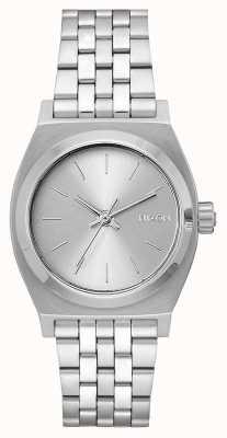 Nixon Teller op middellange termijn | geheel zilver | roestvrijstalen armband | zilveren wijzerplaat A1130-1920-00
