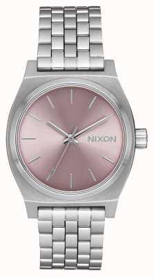 Nixon Teller op middellange termijn | zilver / bleke lavendel | roestvrijstalen armband | A1130-2878-00