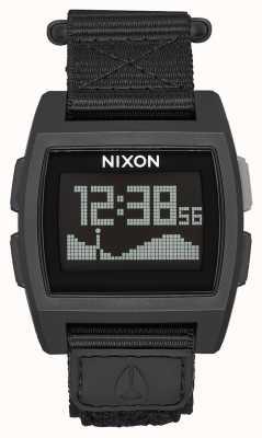 Nixon Basistij nylon | helemaal zwart | digitaal | zwarte nylon band A1169-001-00