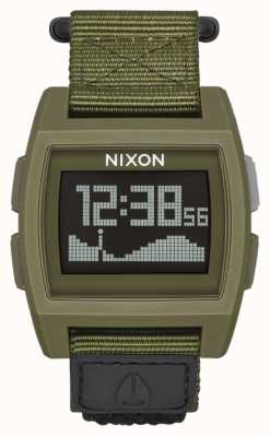 Nixon Basistij nylon | overschot | digitaal | groene nylon band A1169-1085-00