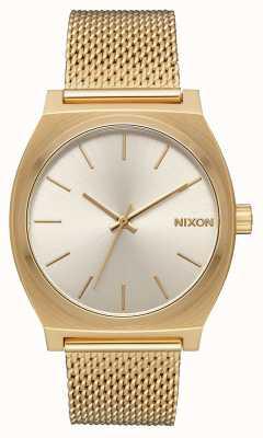 Nixon Time teller Milanese | alle goud / crème | goud ip stalen gaas | crème wijzerplaat A1187-2807-00