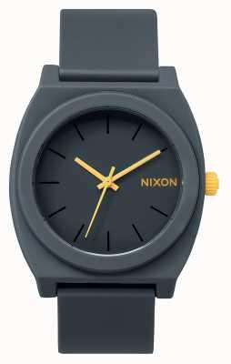 Nixon Tijd teller p | mat staalgrijs | grijze siliconen band | grijze wijzerplaat A119-1244-00