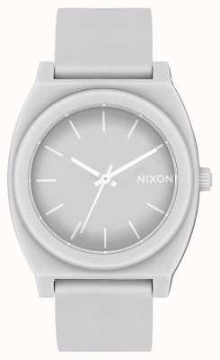 Nixon Tijd teller p | mat koel grijs | grijze siliconen band | grijze wijzerplaat A119-3012-00