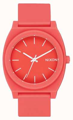 Nixon Tijd teller p | mat koraal | koraal siliconen band | koraal wijzerplaat A119-3013-00