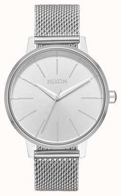 Nixon Kensington Milanese | geheel zilver | roestvrijstalen gaas | zilveren wijzerplaat A1229-1920-00