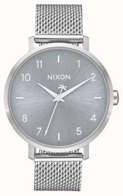 Nixon Arrow Milanese | geheel zilver | roestvrijstalen gaas | zilveren wijzerplaat A1238-1920-00
