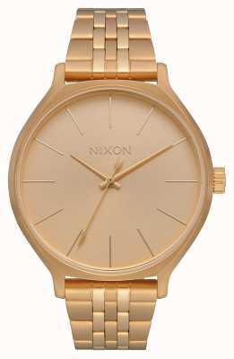 Nixon Kliek | alle goud | gouden ip stalen armband | gouden wijzerplaat A1249-502-00