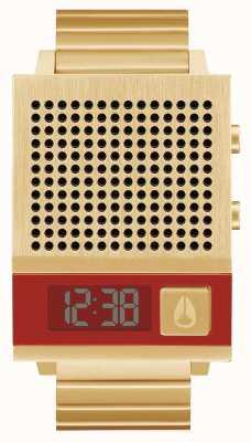 Nixon Dork ook | alle goud | digitaal | gouden ip stalen armband | praten A1266-502-00