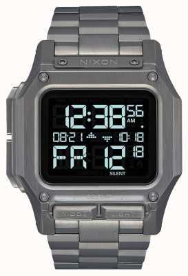 Nixon Regulus ss   brons   digitaal   gunmetal ip stalen armband A1268-131-00