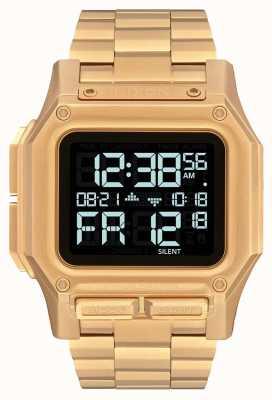 Nixon Regulus ss | alle goud | digitaal | gouden ip stalen armband | A1268-502-00