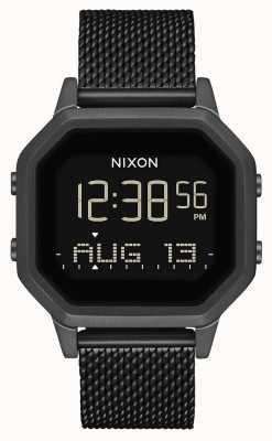 Nixon Sirene Milanese | helemaal zwart | digitaal | zwart ip stalen gaas | A1272-001-00