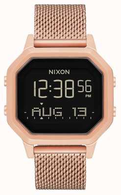 Nixon Sirene Milanese | alle roségoud | digitaal | roségoud ip stalen gaas | A1272-897-00