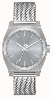 Nixon Middellange tijd teller milanees | geheel zilver | roestvrijstalen gaas | zilveren wijzerplaat A1290-1920-00