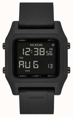 Nixon Nietje | zwart | digitaal | zwarte siliconen band A1309-000-00