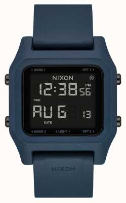Nixon Nietje | donkere leisteen | digitaal | leisteenkleurige siliconen band A1309-2889-00